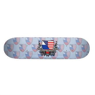 Russian-American Shield Flag 21.3 Cm Mini Skateboard Deck
