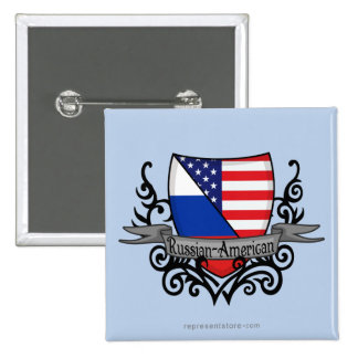Russian-American Shield Flag Button