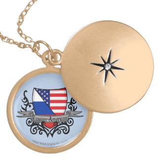 Russian-American Shield Flag Pendants