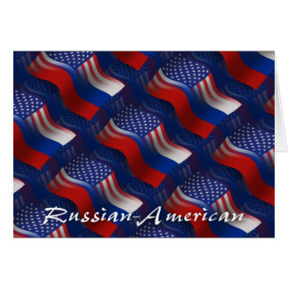 Russian-American Waving Flag Card