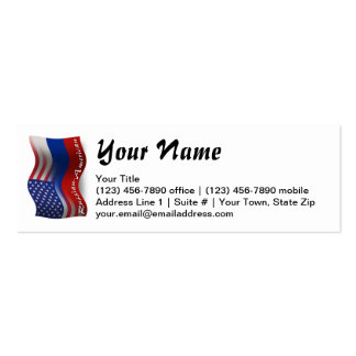 Russian-American Waving Flag Pack Of Skinny Business Cards