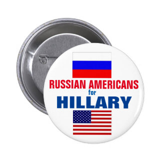 Russian Americans for Hillary 2016 6 Cm Round Badge