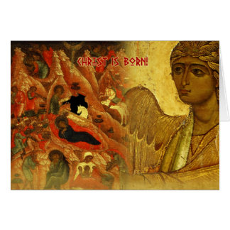 Russian Angel Christmas Greeting Card