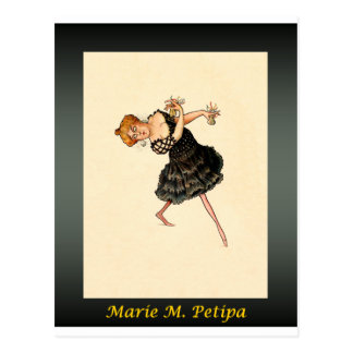 Russian Ballerina Caricature ~ Marie M. Petipa Postcard