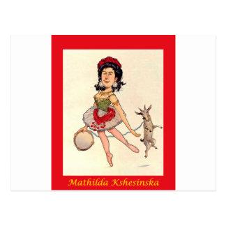 Russian Ballerina Caricature ~ Mathilda Kshesinska Postcard