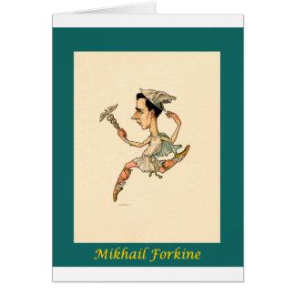 Russian Ballet Caricature ~ Mikhail Fokine Card