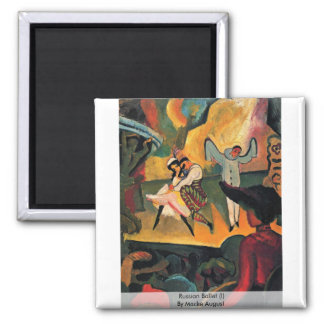 Russian Ballet (I) By Macke August Square Magnet