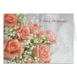 Russian birthday Card. Roses, lily of the valley Greeting Card