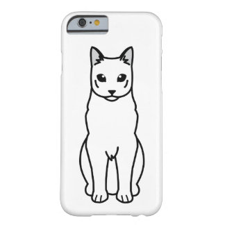 Russian Black Cat Cartoon Barely There iPhone 6 Case