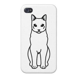 Russian Black Cat Cartoon iPhone 4 Covers