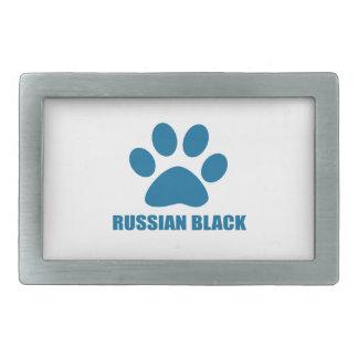 RUSSIAN BLACK CAT DESIGNS BELT BUCKLE