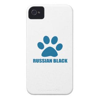 RUSSIAN BLACK CAT DESIGNS iPhone 4 CASE