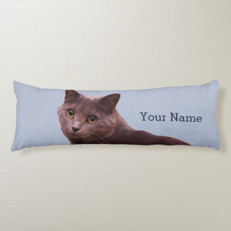 Russian Blue Cat Add Name Body Cushion
