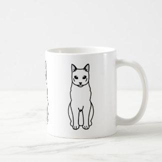 Russian Blue Cat Cartoon Coffee Mug