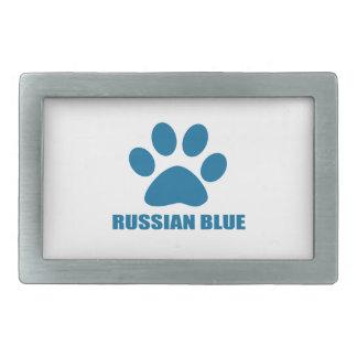 RUSSIAN BLUE CAT DESIGNS BELT BUCKLE