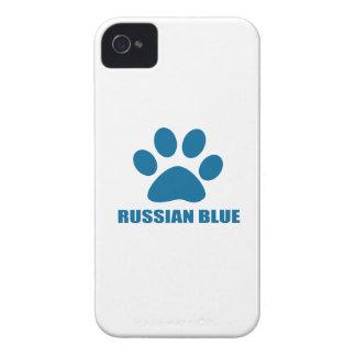 RUSSIAN BLUE CAT DESIGNS Case-Mate iPhone 4 CASE