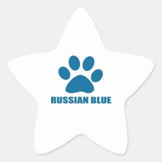 RUSSIAN BLUE CAT DESIGNS STAR STICKER