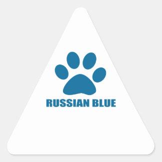 RUSSIAN BLUE CAT DESIGNS TRIANGLE STICKER