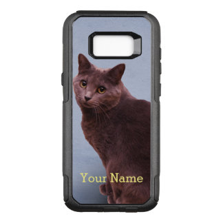 Russian Blue Cat Looking OtterBox Commuter Samsung Galaxy S8+ Case