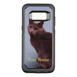 Russian Blue Cat OtterBox Commuter Samsung Galaxy S8 Case