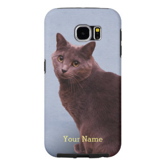 Russian Blue Cat Samsung Galaxy S6 Cases