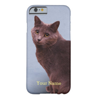 Russian Blue Cat Staring Barely There iPhone 6 Case