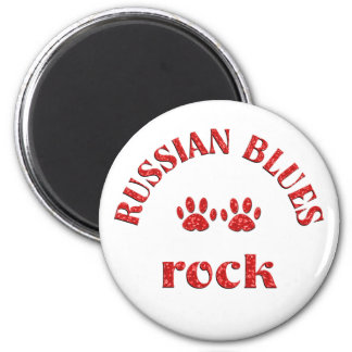 Russian Blues Rock 6 Cm Round Magnet
