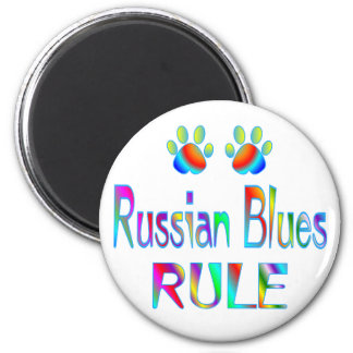 Russian Blues Rule 6 Cm Round Magnet