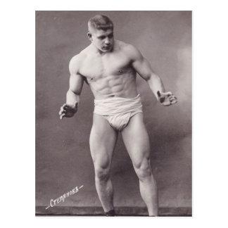 Russian Bodybuilder Postcard