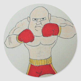 Russian Boxer Sketch Sticker
