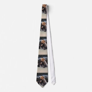 Russian Brown Bear Tie