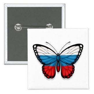 Russian Butterfly Flag Pins
