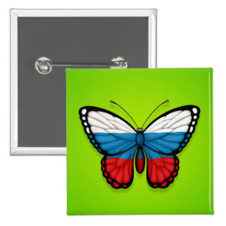 Russian Butterfly Flag on Green Pins