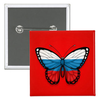 Russian Butterfly Flag on Red Pins