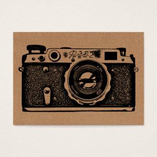Russian Camera - Black on Cardboard Tex Business Card