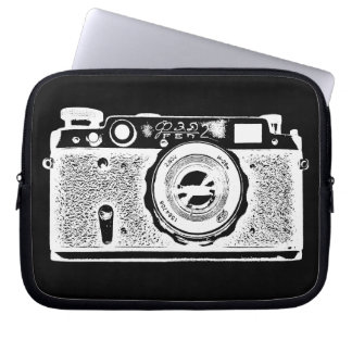 Russian Camera - in Negative Laptop Computer Sleeve