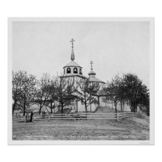 Russian Church Covered by Volcananic Ash 1912 Poster