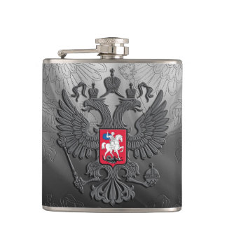 Russian coat arms hip flask