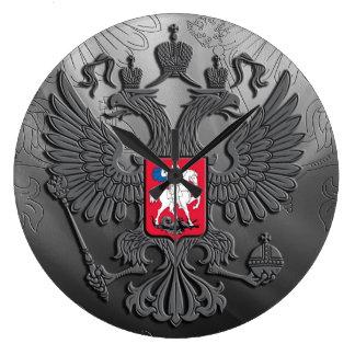 Russian coat arms large clock