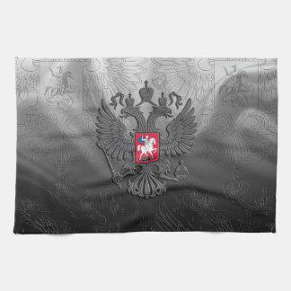 Russian coat arms tea towel