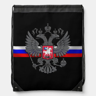 Russian Coat of arms Drawstring Bag