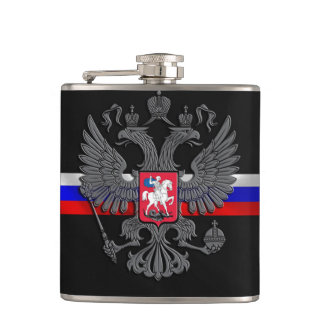 Russian Coat of arms Hip Flask