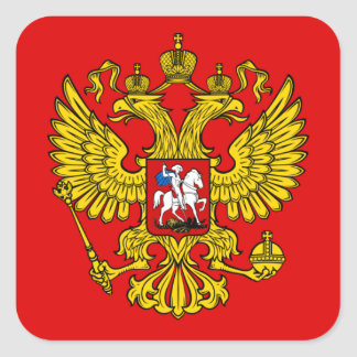Russian Coat of Arms Square Sticker