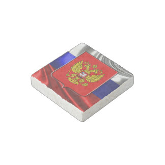 Russian Coat of arms Stone Magnet