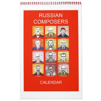 RUSSIAN COMPOSERS wall calendar