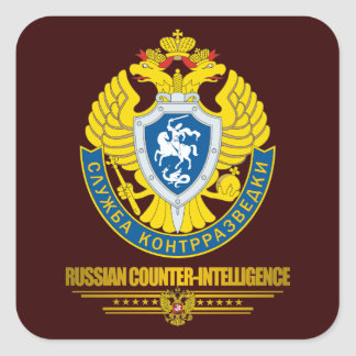 Russian Counter-Intelligence Square Sticker