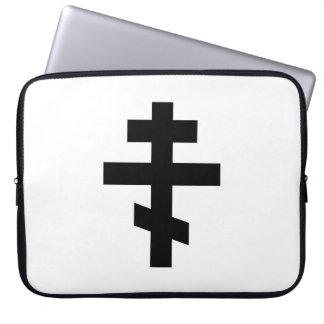 russian cross orthodox church religion god symbol laptop sleeve