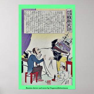 Russian doctor and nurse by Utagawa,Kokunimasa Poster