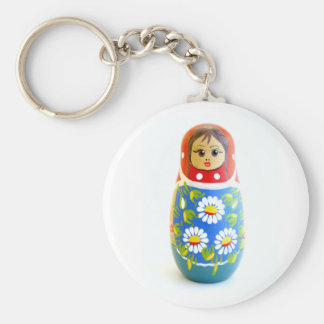 Russian Doll Basic Round Button Key Ring