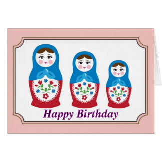 Russian doll Birthday Card